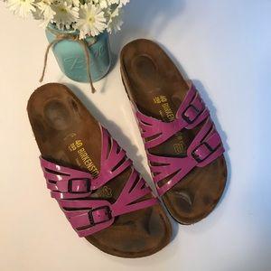 Birkenstock Granada strap sandals purple magenta 9